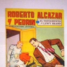 Tebeos: TEBEOS ROBERTO ALCÁZAR Y PEDRÍN EDITORIAL VALENCIANA EL TESTAMENTO DE LEWY BRAND . Lote 106430951