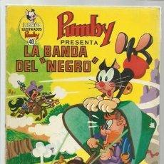 Tebeos: LIBROS ILUSTRADOS PUMBY 40: LA BANDA DEL NEGRO, 1971, VALENCIANA, USADO. Lote 107556635