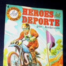 Tebeos: HÉROES DEL DEPORTE (COLOSOS DEL CÓMIC) Nº4 .(1984) -DIFICIL - EXCELENTE TRABAJO DE AMBROS. Lote 107665947