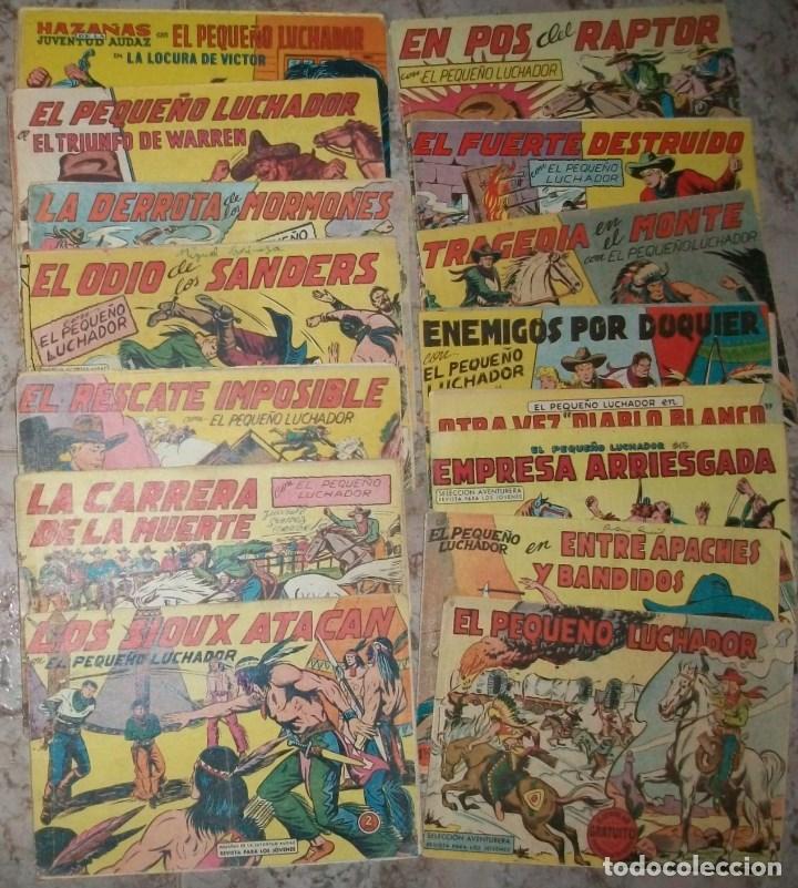 EL PEQUEÑO LUCHADOR (VALENCIANA) (LOTE CON 34 NUMEROS DIFERENTES) (Tebeos y Comics - Valenciana - Otros)