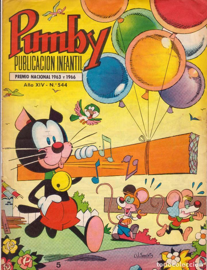 SÓLO PORTADAS - PUMBY. PUBLICACIÓN INFANTIL. AÑO XIV. NÚMERO 544 (Tebeos y Comics - Valenciana - Pumby)