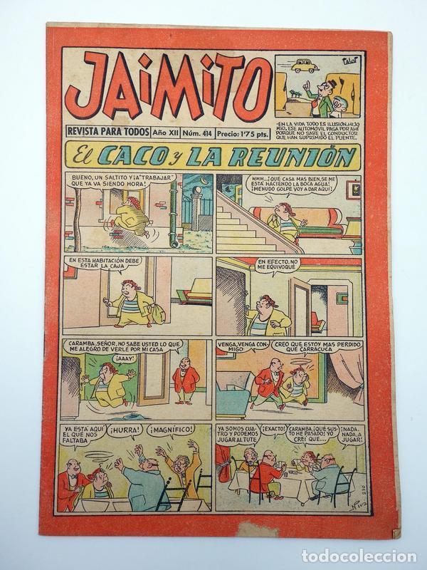 JAIMITO REVISTA JUVENIL N.º 414. (VVAA) EDITORIAL VALENCIANA, 1957 (Tebeos y Comics - Valenciana - Jaimito)