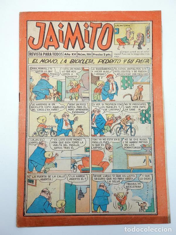 JAIMITO REVISTA JUVENIL N.º 584. (VVAA) EDITORIAL VALENCIANA, 1960 (Tebeos y Comics - Valenciana - Jaimito)