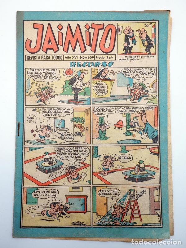 JAIMITO REVISTA JUVENIL N.º 609. (VVAA) EDITORIAL VALENCIANA, 1961 (Tebeos y Comics - Valenciana - Jaimito)
