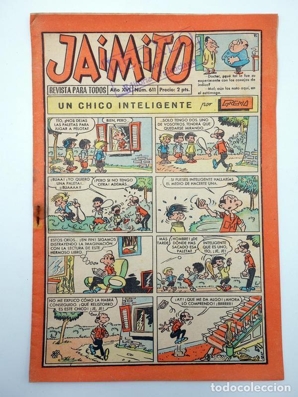JAIMITO REVISTA JUVENIL N.º 611. (VVAA) EDITORIAL VALENCIANA, 1961 (Tebeos y Comics - Valenciana - Jaimito)
