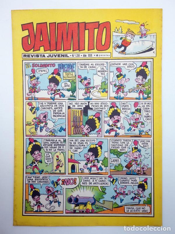 JAIMITO REVISTA JUVENIL N.º 1261. (VVAA) EDITORIAL VALENCIANA, 1974 (Tebeos y Comics - Valenciana - Jaimito)