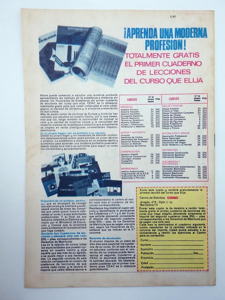 Tebeos: JAIMITO REVISTA JUVENIL N.º 1261. (VVAA) Editorial Valenciana, 1974 - Foto 2 - 108809731