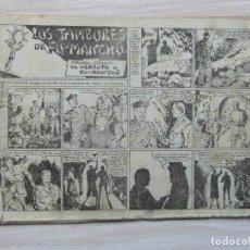Tebeos: LA DERROTA DE FU-MANCHU. Nº 3 DE LOS TAMBORES DE FU-MANCHU.SELECCIÓN AVENTURERA.VALENCIANA. 1943. Lote 109167435