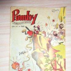 Tebeos: Nº 249 DE PUMBY. EDITORIAL VALENCIANA. 1962. J. SANCHIS, MARIO SBATELLA. Lote 109205067