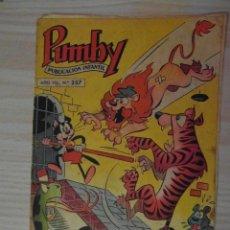 Tebeos: Nº 257 DE PUMBY. EDITORIAL VALENCIANA. 1962. J. SANCHIS, MARIO SBATELLA. Lote 109205739