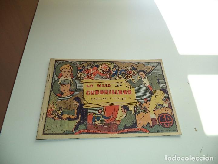LA HIJA DEL GUERRILLERO ESPOZ Y MINA SELECCIÓN AVENTURERA AÑO 1941 Nº6 ORIGINAL EDITORIAL VALENCIANA (Tebeos y Comics - Valenciana - Selección Aventurera)