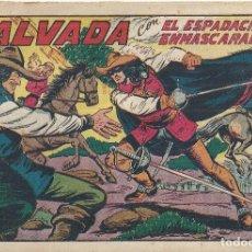 Tebeos: ESPADACHÍN ENMASCARADO, EL Nº 141. SALVADA. MANUEL GAGO. ED. VALENCIANA, ORIGINAL 1955.. Lote 109995087