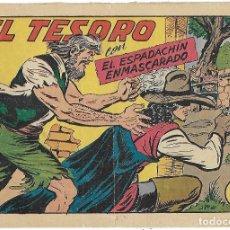 Tebeos: ESPADACHÍN ENMASCARADO, EL Nº 185. EL TESORO. MANUEL GAGO. ED. VALENCIANA, ORIGINAL 1956. Lote 110012267