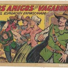 Tebeos: ESPADACHÍN ENMASCARADO, EL Nº 233. LOS AMIGOS DEL VAGABUNDO. M. GAGO. ED. VALENCIANA, ORIGINAL 1957. Lote 110012747