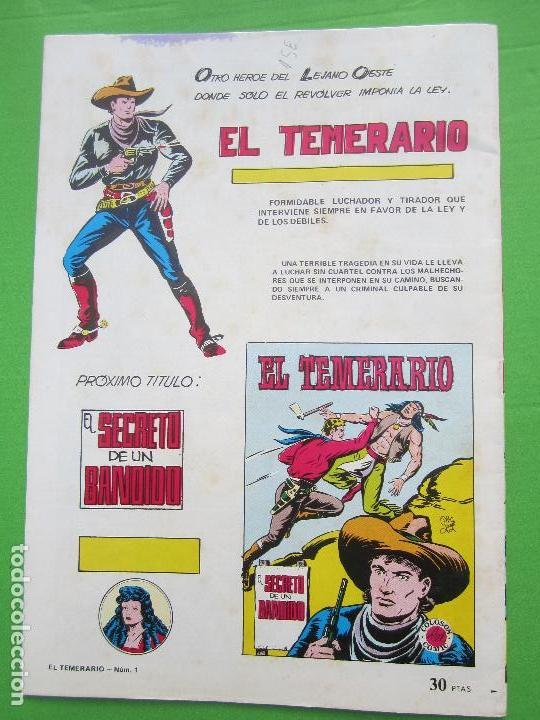 Tebeos: el temerario , numero 1 , colosos del comic , valenciana 1981 - Foto 2 - 110260099