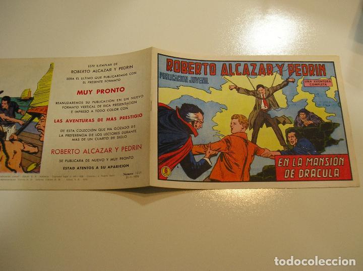 ROBERTO ALCAZAR Y PEDRÍN 1219, 1976, VALENCIANA ULTIMO DE LA COLECCION, MUY BUEN ESTADO VER FOTOS (Tebeos y Comics - Valenciana - Roberto Alcázar y Pedrín)