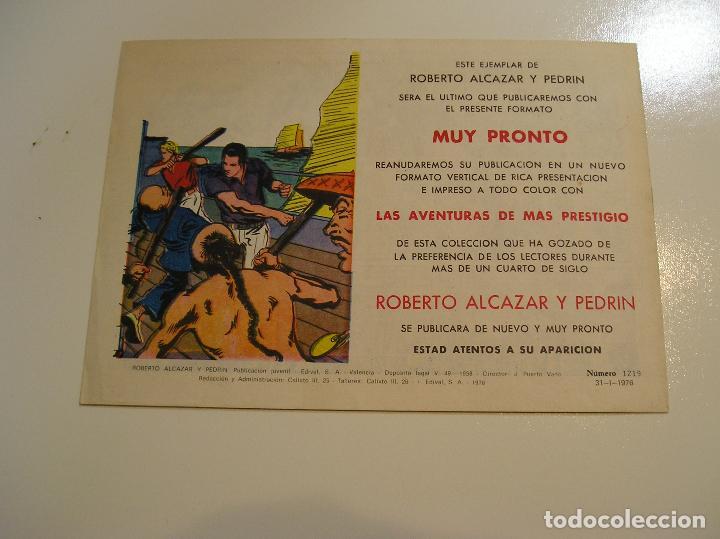 Tebeos: Roberto Alcazar y Pedrín 1219, 1976, Valenciana ultimo de la coleccion, muy buen estado ver fotos - Foto 4 - 111068843