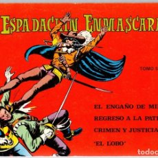 Tebeos: EL ESPADACHIN ENMASCARADO. TOMO 5. 2ª EDICION, AÑO 1981. Lote 111777092
