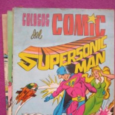Tebeos: LOTE 7 TEBEOS COLOSOS DEL COMIC SUPERSONIC MAN, EDITORIAL VALENCIANA, . Lote 113007251