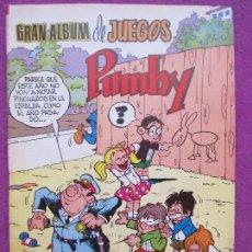 Tebeos: TEBEO, GRAN ALBUM DE JUEGOS PUMBY, Nº59, VALENCIANA. Lote 113009867