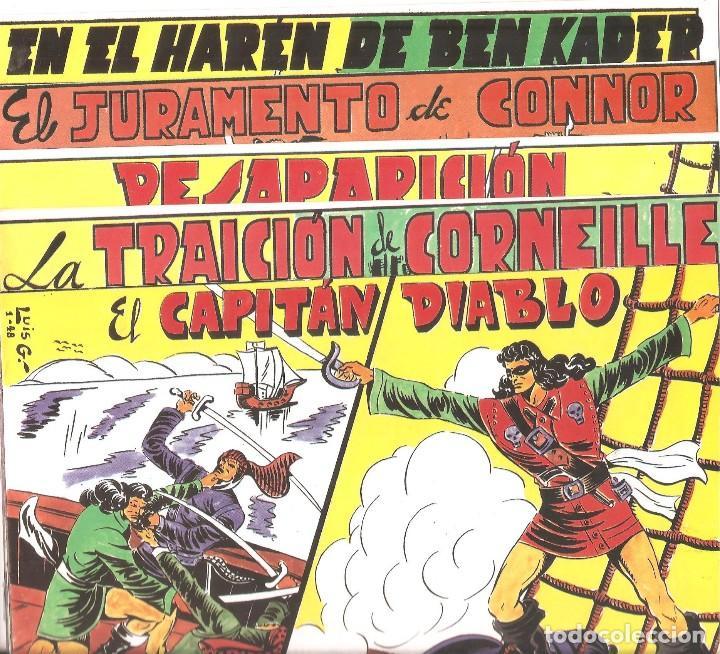 OPORTUNIDAD COLECCIONISTAS- EL CAPITÁN DIABLO-ORIGINAL 5 CUADERNOS-ÚNICA EDICIÓN (Tebeos y Comics - Valenciana - Selección Aventurera)