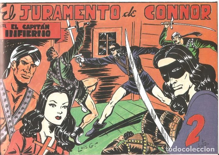 Tebeos: OPORTUNIDAD COLECCIONISTAS- EL CAPITÁN DIABLO-ORIGINAL 5 CUADERNOS-ÚNICA EDICIÓN - Foto 6 - 218637595
