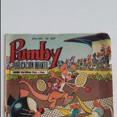 Tebeos: PUBLICACION INFANTIL PUMBY. Nº 587. 1969. Lote 113044559
