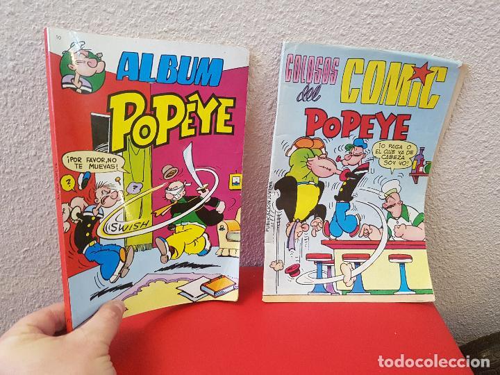 LOTE 2 COMIC EDITORA VALENCIANA ALBUM POPEYE 10 1981 COLOSOS DEL COMICS Nº 38 (Tebeos y Comics - Valenciana - Colosos del Comic)