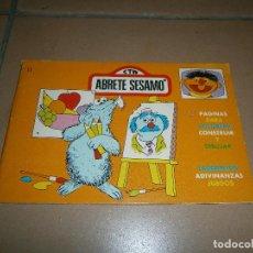 Tebeos: ABRETE SÉSAMO - PASATIEMPOS, COLOREAR - BLOQUE COLOR - EDIPRINT - 1976. Lote 113278187