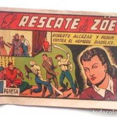 Tebeos: EL RESCATE DE ZÖE, Nº 107, ORIGINAL DE 1947. DE 1 PESETA. Lote 113581875