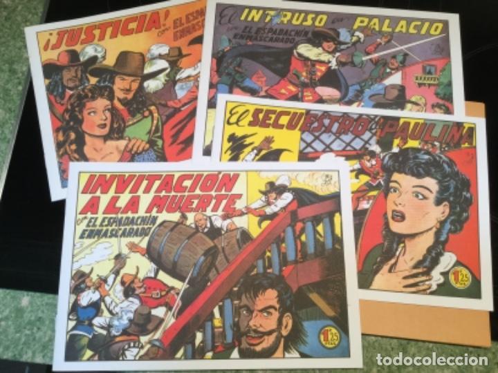 LOTE DE 8 EJEMPLARES EL ESPADACHIN ENMASCARADO - EDITORIAL VALENCIANA - REEDICION (Tebeos y Comics - Valenciana - Espadachín Enmascarado)