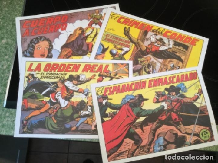 Tebeos: LOTE DE 8 EJEMPLARES EL ESPADACHIN ENMASCARADO - EDITORIAL VALENCIANA - REEDICION - Foto 2 - 115304727