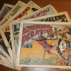 Tebeos: LOTE 6 TBOS EL GUERRERO DEL ANTIFAZ - Nº 56,71,79,233,596,634, - EDT. VALENCIANA, AÑOS 40.. Lote 115506151