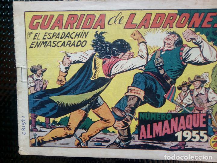 COMIC ALMANAQUE 1955 - EL ESPADACHIN ENMASCARADO - ORIGINAL - EDT. VALENCIANA (M-1) (Tebeos y Comics - Valenciana - Espadachín Enmascarado)