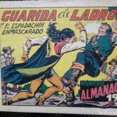 Tebeos: COMIC ALMANAQUE 1955 - EL ESPADACHIN ENMASCARADO - ORIGINAL - EDT. VALENCIANA (M-1). Lote 116228235