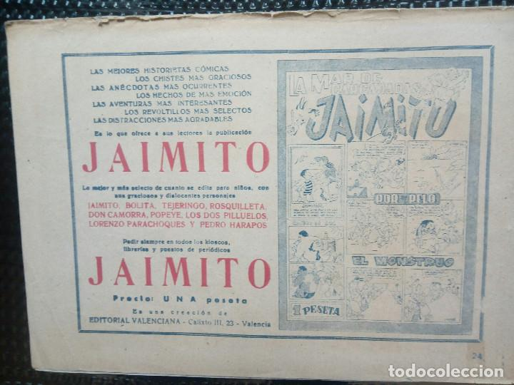 Tebeos: COMIC ROBERTO ALCAZAR Nº 24 - ORIGINAL - EDT,VALENCIANA 1949 ( M-1) - Foto 2 - 116329715
