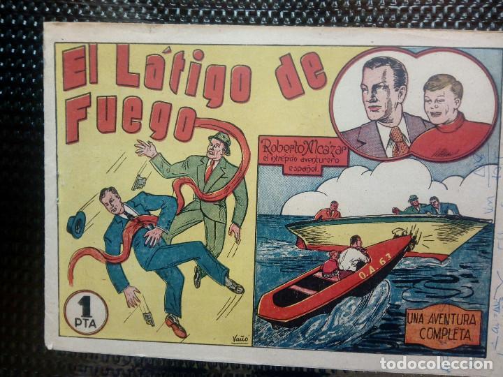 COMIC ROBERTO ALCAZAR Nº 8 - ORIGINAL - EDT,VALENCIANA 1948( M-1) (Tebeos y Comics - Valenciana - Otros)