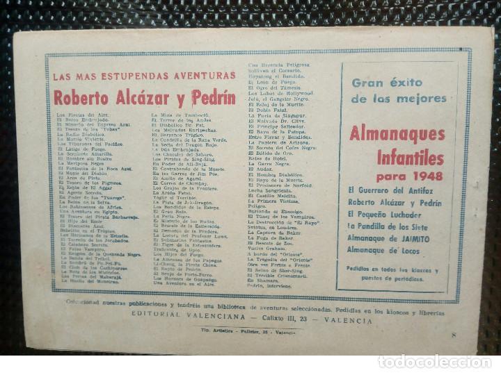 Tebeos: COMIC ROBERTO ALCAZAR Nº 8 - ORIGINAL - EDT,VALENCIANA 1948( M-1) - Foto 2 - 116330071