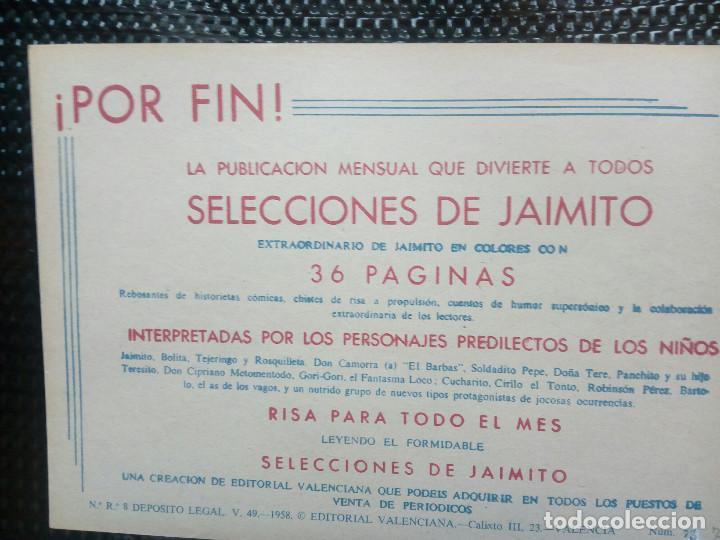 Tebeos: COMIC ROBERTO ALCAZAR Nº 72 - ORIGINAL - EDT,VALENCIANA 1958 ( M-1) - Foto 2 - 116330527