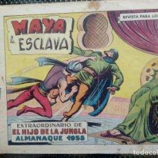 Tebeos: COMIC EL HIJO DE LA JUNGLA ALMANAQUE 1958 Nº 49 - ORIGINAL - EDT. VALENCIANA (M-1). Lote 116349859
