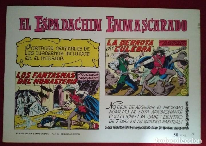 Tebeos: EL ESPADACHÍN ENMASCARADO TRES NÚMEROS EN UNO - NÚMERO 72 - EL PODER DE LEFEVRE +2 - Foto 5 - 116736223