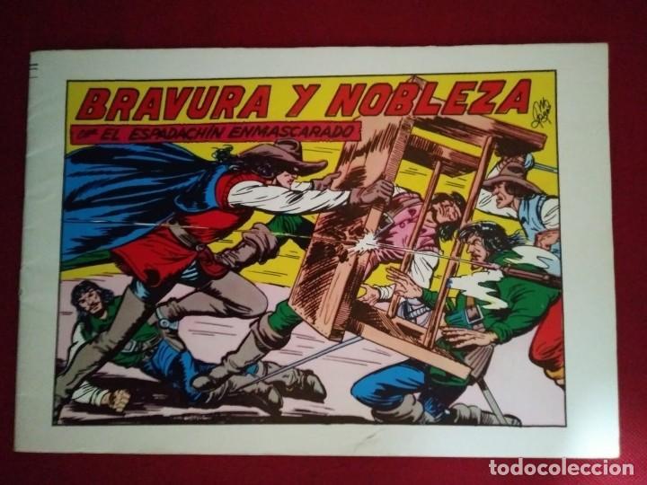 EL ESPADACHÍN ENMASCARADO TRES NÚMEROS EN UNO - NÚMERO 58 - BRAVURA Y NOBLEZA +2 (Tebeos y Comics - Valenciana - Espadachín Enmascarado)