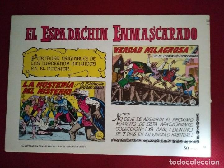 Tebeos: EL ESPADACHÍN ENMASCARADO TRES NÚMEROS EN UNO - NÚMERO 58 - BRAVURA Y NOBLEZA +2 - Foto 5 - 116736267