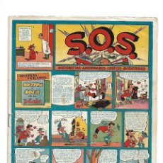 Tebeos: S.O.S. AÑO 1.951. Nº 51. ORIGINAL LUIS CICLÓN 4. PÁGINAS DIBUJADA POR MILTON CANIFF.. Lote 116900579