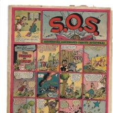 Tebeos: S.O.S. AÑO 1.951. Nº 35. ORIGINAL LUIS CICLÓN 4. PÁGINAS DIBUJADA POR MILTON CANIFF.. Lote 116901719