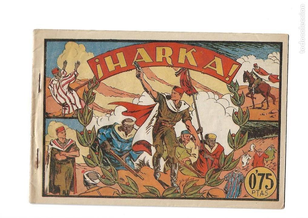 SELECCIÓN AVENTURERA, AÑO 1.941. Nº 19. HARKA, ES ORIGINAL Y MUY DIFICIL EDITORIAL VALENCIANA. (Tebeos y Comics - Valenciana - Selección Aventurera)