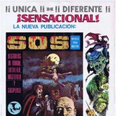 Tebeos: POSTER CARTEL PROMOCIONAL SOS (MODELO 1) VALENCIANA, 1980. ORIGINAL. 31X43,5 CM. OFRT. Lote 119590543