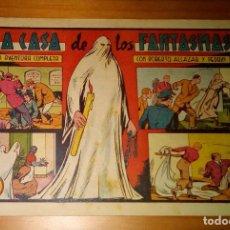 Tebeos: ORIGINAL - ROBERTO ALCAZAR Y PEDRÍN - NUMERO 195: LA CASA DE LOS FANTASMAS - BUEN ESTADO. Lote 117731239