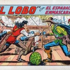 Tebeos: EL ESPADACHIN ENMASCARADO Nº 20 - EL LOBO. Lote 117994027