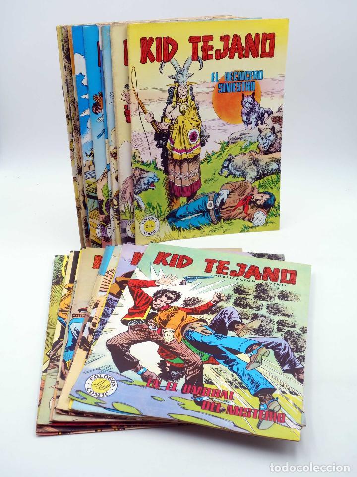 COLOSOS DEL COMIC KID TEJANO. LOTE DE 24 NºS (NO ACREDITADO) VALENCIANA, 1982. OFRT (Tebeos y Comics - Valenciana - Colosos del Comic)